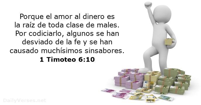 biblia sobre dinero